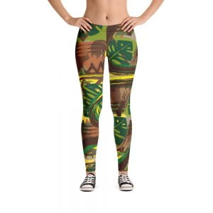 tapa style earth tone leggings