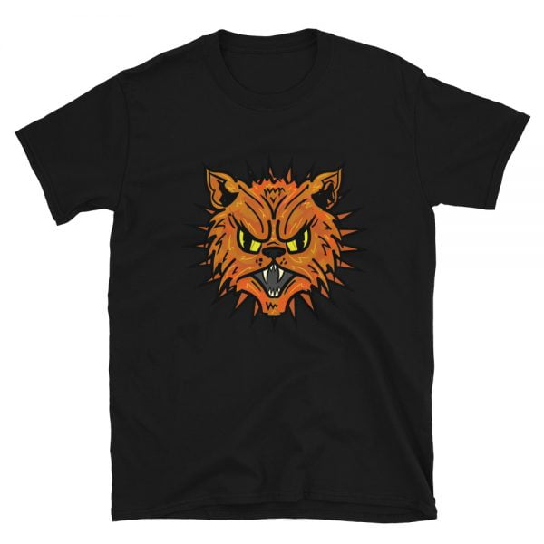 Mad Tabby Cat black t-shirt