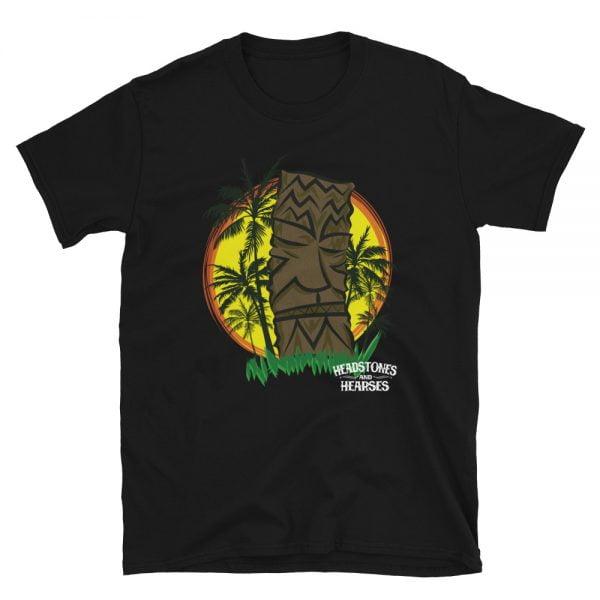 Sunset Tiki Palms black t-shirt