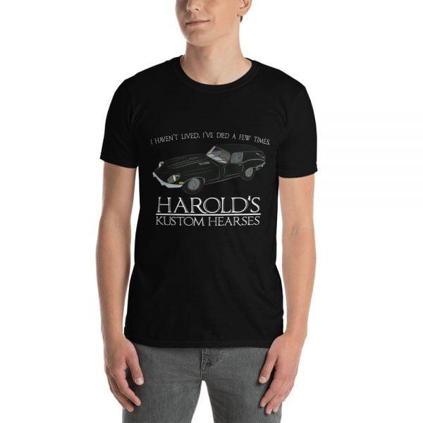 Harold's Kustom Hearses balck t-shirt