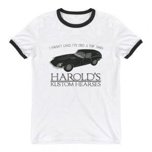 Harold's Kustom Hearses ringer t-shirt