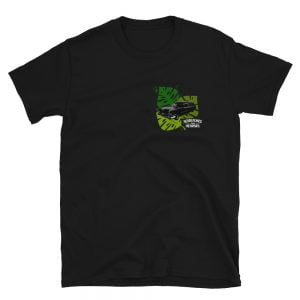 front design Halloween style Tropical Hearse t-shirt