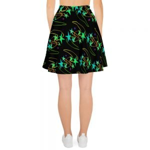 bright stars and cute squiggles skater dress