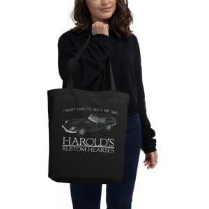 Harolds Kustom Hearses record tote bag